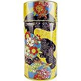 ZentealifeCom Japanese Tea Tin Double Lid Quality Metal Japanese Pattern