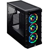 Corsair CS-CC-9011188-WW iCUE 465X RGB Mid Tower ATX Smart Case, Black