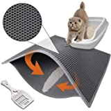 Pieviev Cat Box Mat 2-Layer Litter-Trapping Pad Cat (30×24Litter Scoop Included)
