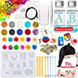 GoodyKing Resin Jewelry Making Starter Kit - Resin Kits for Beginners with Molds and Resin Jewelry Making Supplies - Silicone