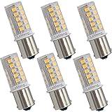 LeMeng 12V BA15S LED Bulb S8 SC 3W 300Lm 2700K Warm White,DC Bayonet Single Contact Base 1156 1141, AC10-18Volt & DC10-30 Vol
