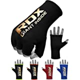 RDX Boxing Hand Wraps Inner Gloves for Punching - Half Finger Elasticated Bandages Under Mitts Fist Protection - Great for MM