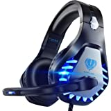 Pacrate Gaming Headset for PS4, PS5, Xbox One with Noise Cancelling Mic - Stereo Surround Sound Gaming Headphones Ear PS4 Hea