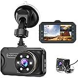 Dash Cam Front and Rear CHORTAU Dual Dash Cam 3 inch Dashboard Camera Full HD 170° Wide Angle Backup Camera with Night Vision