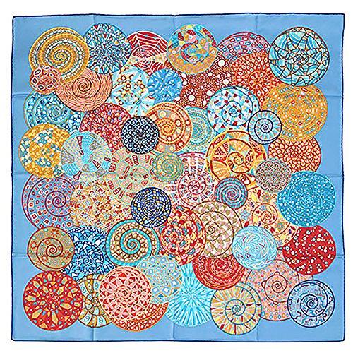 (エルメス) HERMES スカーフ カレ 90 Reves D'escargots ブルー/レッド/オレンジ 26440 [並行輸入品]