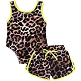 YOUNGER TREE Toddler Infant Baby Girl Swimsuit Leopard Print Beach Bikini Short Pant 2Pcs Baby Swimwear Bathing Suit Outfits