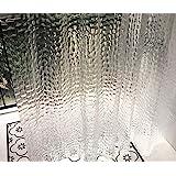 Ryhpez シャワーカーテンライナー - 透明シャワーカーテンセット フック付き | 72 x 72インチ