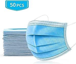 50枚入り 使い捨てマスク 不繊布 マスク 快適 立体 防塵吊り耳 ほこり 風邪 飛沫 PM2.5 花粉対策 ソフト&通気性