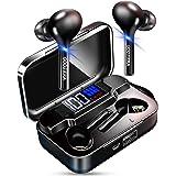 【第二世代 Bluetooth5.0 シリコンストラップ付】 Bluetooth イヤホン スポーツ 自動ペアリング LEDディスプレイ電量表示 ワイヤレス イヤホン IPX7完全防水 CVC8.0ノイズキャンセリング&AAC対応 ブルートゥース イ