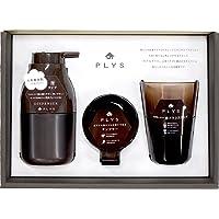 オカ PLYS プリスベイス 洗面3点セット ブラウン 箱入り (ディスペンサー(泡)+タンブラー+歯ブラシスタンド)