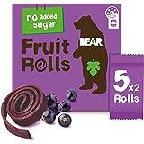 BEAR Real Fruit Rolls - Blackcurrant - Natural Fruit Snack - No Added Sugar - Gluten Free Snack - Vegan Fruit Snack - Healthy