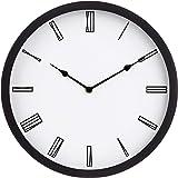 Amazonベーシック 掛け時計 ローマン 約30cm ブラック