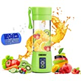 Portable Blender, OBERLY Smoothie Juicer Cup - Six Blades in 3D, 13oz Fruit Mixing Machine with 2000mAh USB Rechargeable Batt