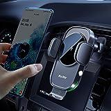 Auckly 15W ワイヤレス充電器 車載ホルダー【QI認証済み】 電磁誘導自動開閉 片手操作 吹き出し口 急速充電 車 スマホホルダー iPhone 12 mini Pro Max 11 / 11 Pro/Max/XS/XR/X / 8 / 8
