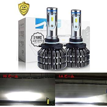 Woxma HB3 LED ヘッドライト バイク/車用 車検対応 6000LM(3000LM*2) 12V/24V車対応 ホワイト 6500K 1年保証付き