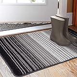 """Aoonby Indoor Doormat 23""""x 35"""", Absorbent Front Back Door Mat Floor Mats, Rubber Backing Non Slip Door Rug Entrance Inside Mu"""
