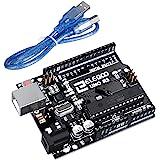 ELEGOO Arduino用UNO R3コントロールボード ATmega328P ATMEGA16U2 +USBケーブル