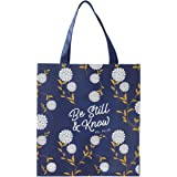 Be Still and Know Reusable Shopping Bag in Navy - Psalm 46:10