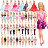 Barwa 21 Accessories Selected Randomly for 11.5 Inch 30 cm Dolls: 5 Fashion Dresses + 5 Clothes + 5 PCS Pants + 3 Wedding Dre