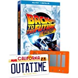 Back to the Future Blu-Ray 30th Anniversary Trilogy with 2 Collectible Mini License Plates with Bonus Disc + Digital HD
