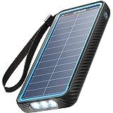 Anker PowerCore Solar 10000 (ソーラーモバイルバッテリー 10000mAh 大容量)【ソーラーチャージャー/防塵/防水 / IP64対応 / フラッシュライト搭載/低電流モード搭載/PSE技術基準適合】iPhone & A