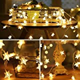 Star LED String Lights - 70 LED 33 FT Twinkle Star Fairy Lights Waterproof for Outdoor, Indoor, Bedroom, Wedding, Party, Chri