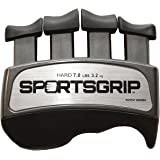 SPORTSGRIP Hand and Finger Exerciser (Hard - 7lbs / 3.2kg) - Best Ergonomic Finger Strengthener to Improve Grip for All Sport
