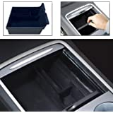 Center Console Organizer Tray Compatible with Latest 2021 Tesla Model 3 DIBMS Flocked Armrest Hidden Cubby Drawer Storage Box
