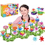 Kyerivs 46 PCS Flower Garden Building Toys Set for Girls Creative Educational Garden Building Blocks Toys Gardening Christmas