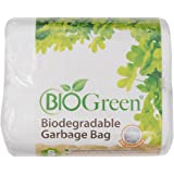 Biogreen Disposable Garbage Bag, White (Pack of 100)