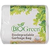 Biogreen Disposable Garbage Bag, White (Pack of 100)