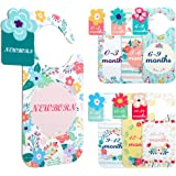 Plastic Baby Closet Size Dividers for Girl,Baby Closet Dividers from Newborn Infant to 24 Months,Nursery Closet Organizer Div
