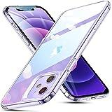 ESR iPhone12 用 ケース iPhone12 Pro 用 ケース クリア 薄型 黄変防止 tpuバンパー 9H背面 ストラップホール付き ワイヤレス充電対応 2021年 アイフォン 12/12Pro 用 6.1インチ 透明