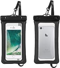 【2個セット】Toplus 携帯防水ケース IPX8規格 ネックストラップ付き 全機種対応