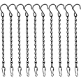 10 Pack 9.5 Inches Hanging Chains, Garden Plant Hangers, for Bird Feeders, Billboards, Chalkboards, Planters, Lanterns, Wind