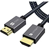 IVANKY 4K HDMI Cable (10FT/3M) Copper Cord, High Speed 18 Gbps HDMI 2.0 Cable 4K@60Hz with Aluminium Alloy Hood, Braided Nylo
