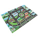 HOMYL Kids Road Traffic Play Mat Rug Toy Carpet Playmat Baby Children Developmental - for Playing with Toy Cars Trucks...