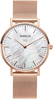 JEWELLIX ジュエリックス レディース 36mm マザーオブパール ローズゴールド 腕時計