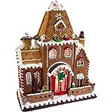 Kurt Adler Fancy Clay Dough Gingerbread House Christmas Décor, STD, Multicolored