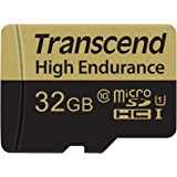 Transcend 32GB High Endurance Microsd Card with Adapter (TS32GUSDHC10V)
