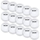 Wpxmer 55 Pack Acrylic Design Button Badge, Clear Button Pin Badges Kit for DIY Craft Supplies, 1.8 Inch
