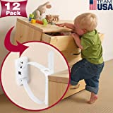 Furniture Anchors for Baby Proofing(12 Pack) Furniture Straps Kit Anti Tip, Easy Installation Furniture Wall Anchors for Firm