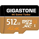 Gigastone 512GB Micro SD Card, 4K Game Turbo, MicroSDXC Memory Card Compatible with Nintendo-Switch, R/W up to 100/60MB/s, UH