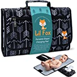 Portable Diaper Changing Pad by Lil Fox | Waterproof Portable Changing Pad for Moms, Dads and Babies | Use just One Hand; Mem