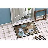 """Caroline's Treasures 8103-MAT Blue Heron Indoor or Outdoor Doormat, 18"""" x 27"""", Multicolor"""