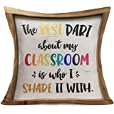 Aremetop Vintage Quote Pillow Covers Decorative Cotton Linen Inspirational Letters Saying Wood Frame Throw Pillow Case Cushio