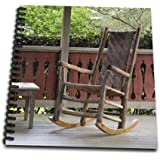 3dRose Georgia, Pine Mountain. Rocking Chair, porch-US11 JEG0167-Julie Eggers-Drawing Book, 8 by 8-inch (db_89336_1)