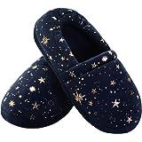 Vonair Girls Boys House Slippers with Cute Star Breathable Memory Foam Anti-Slip Kids Bedroom Shoes