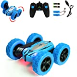 Jellydog Toy Stunt Rc Car, Remote Control Car, 360 Degree Flips Double Sided Rotating Race Car, High Speed Flashing Remote Co