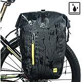 Rhinowalk 自転車 防水 パニアバッグ リアバッグ サイドバッグ 大容量 軽い 収納力抜群 高級感溢れる ブラッ…